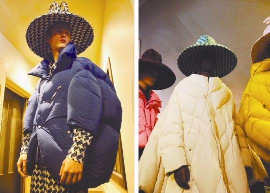 陈鹏设计的羽绒服,轮廓夸张,色彩艳丽,只有一个尺码,尤其受到国际买手的关注